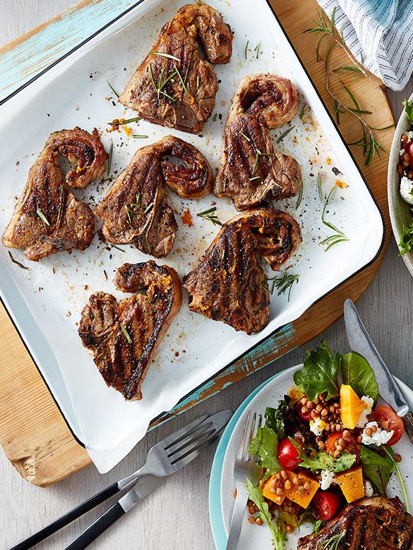 lamb loin chops recipe au Orange and Rosemary Lamb Loin Chops