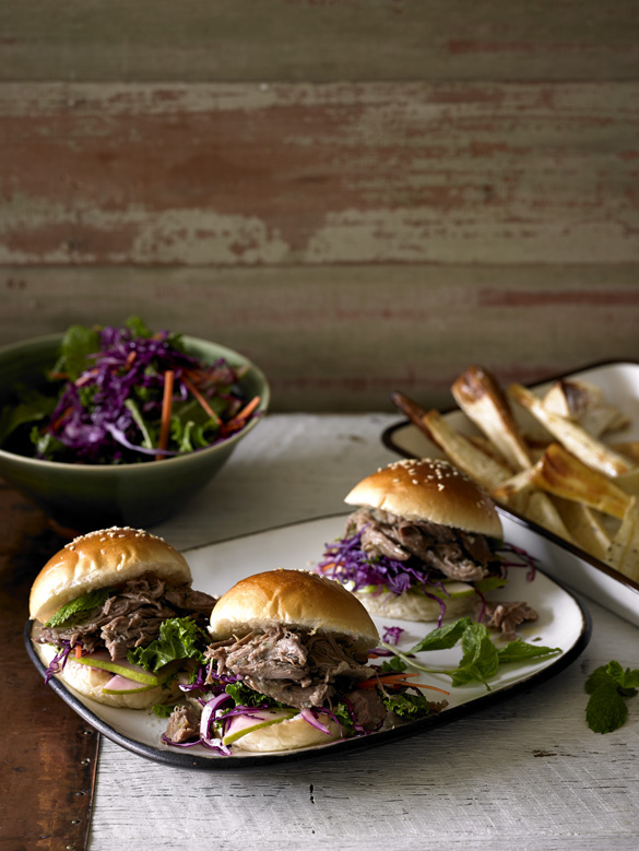 Pear and sage lamb sliders