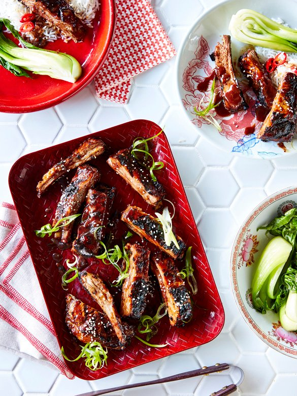 Chinese BBQ lamb ribs