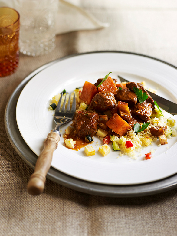 Slow simmered spiced Moroccan lamb tagine