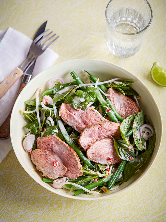 Lamb Rump Red Curry Salad