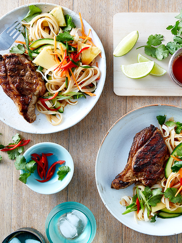 Malay Lamb Rump with Pineapple Noodle Salad